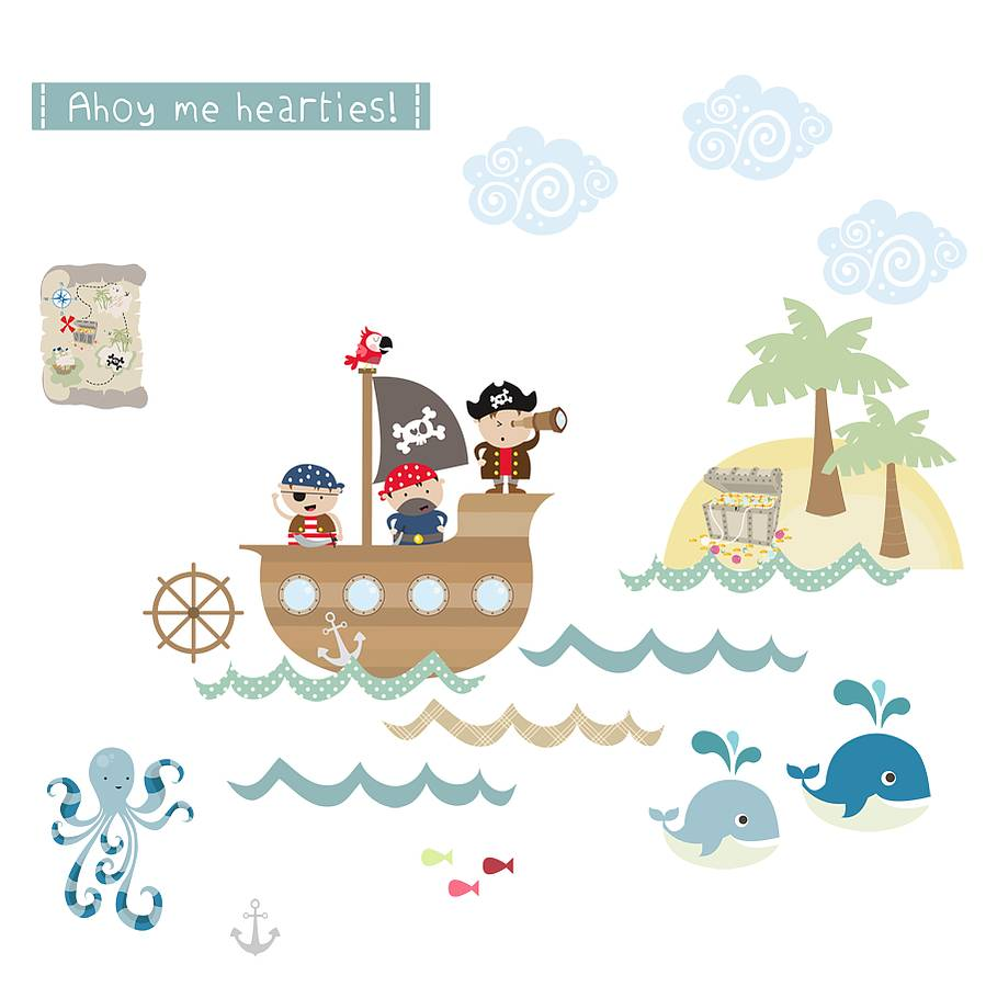 Pirates Fabric Wall Stickers By Littleprints Notonthehighstreet