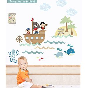 Pirates Fabric Wall Stickers - baby's room