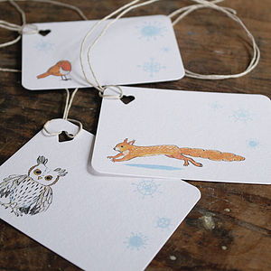 Christmas Animal Gift Tag - christmas labels & tags