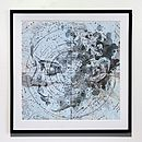 Milky Way Map Portrait Print