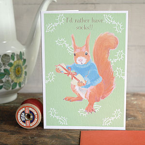 Squirrel Christmas Card - seasonal cards