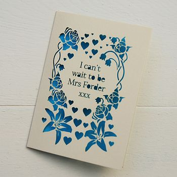 Personalised Laser Cut Wedding Day Card