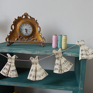 Origami Paper Dress Bunting - outdoor decorations