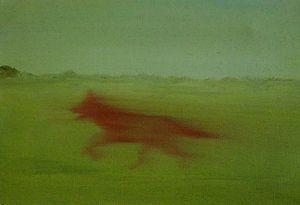Red Fox Oil Painting On Canvas