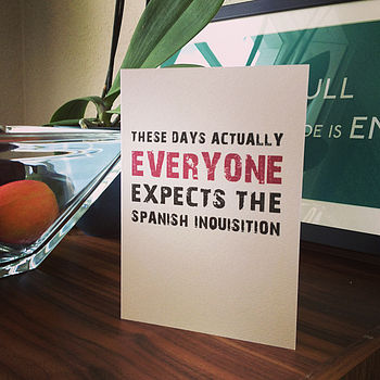 Spanish Inquisition Greetings Card