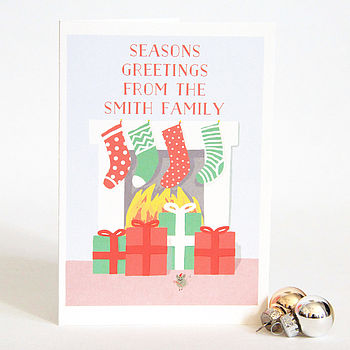 Personalised Christmas Stocking Cards