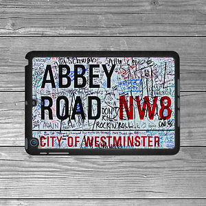 Abbey Road Street Sign iPad Mini Case - stocking fillers under £15