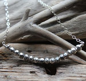 Vintage Personalised Silver Bead Necklace - necklaces & pendants