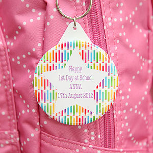 Personalised 1st Day At School Bag Tag - keyrings