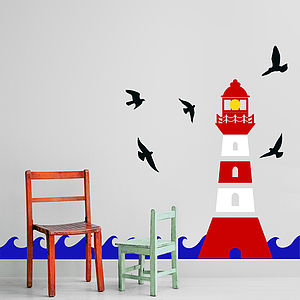 Lighthouse Wall Sticker Decal - dining room