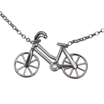 Bicycle Necklace Handmade Sterling Silver
