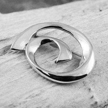 Sterling Silver Spiral Brooch
