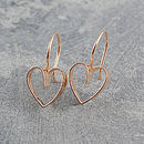 Lace Heart Rose Gold Earrings