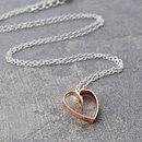Rose Gold Lace Heart Necklace