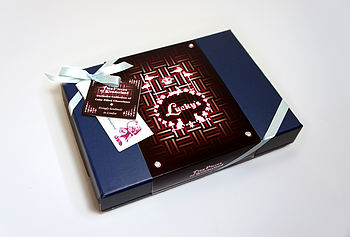 Gift Box Of Chocolates Filled With Cakes