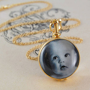 Gold Round Double Sided Locket - necklaces & pendants