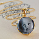 Gold Vintage Round Double Sided Locket Necklace