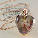 Rose Gold Vintage Heart Locket Necklace