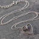 Heart Lace Sterling Silver Necklace