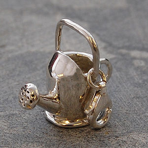 Garden Watering Can Silver Charm