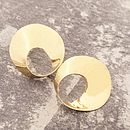 Golden Wave Stud Earrings