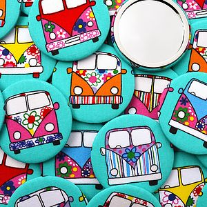 ''Campervan'' Set Of Compact Mirrors