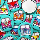 'Campervan' Set Of Party Bag Filler Mirrors