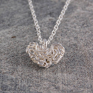 Mesh Sterling Silver Heart Necklace - necklaces & pendants