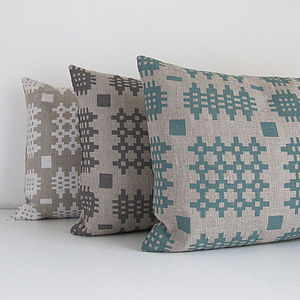 Welsh Tapestry Linen Cushion - cushions