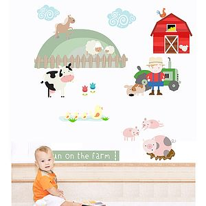 Fun On The Farm Fabric Wall Stickers - wall stickers