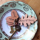 Personalised Oak Leaf And Acorn Keyring