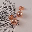 Rose Gold Ball Stud Earrings