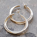 Interwoven Solid Sterling Silver Hoops