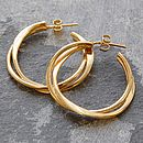 Gold Interwoven Hoop Earrings