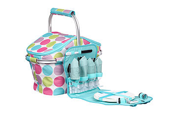 Candy Dot Aluminium Picnic Basket