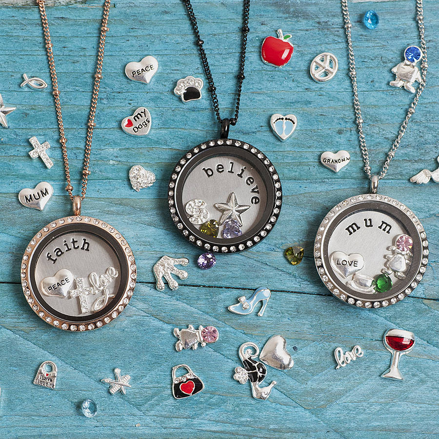 lockets large necklace keepsake her clear for locket heirloom sterling bubble sided glass double pin silver solid gift round