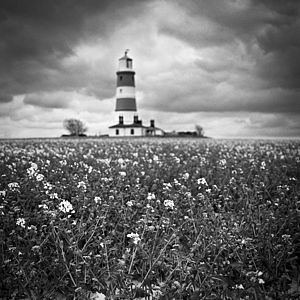 Happisburgh, Black And White Signed Art Print - architecture & buildings