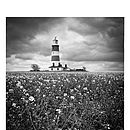 Lighthouse, Black And White Print