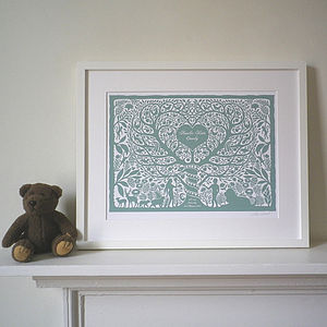 Christening And New Baby Adam And Eve Print - baby's room