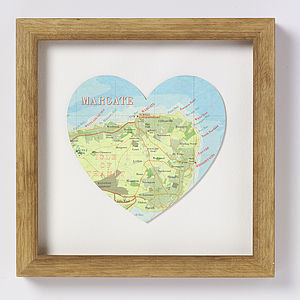 Margate Map Heart Print