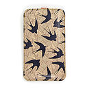 Leather Phone Case Swallows