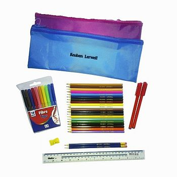 Personalised Pencil Case And 38 Accessories