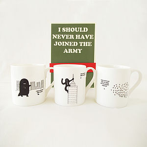 A Set Of Three 'I Should Never Have Joined The Army' Mug
