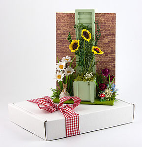 Secret Garden 3D Greetings Card - birthday cards