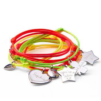 Personalised Neon Summer Bracelet