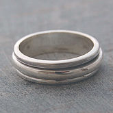 Sterling Silver Spin Ring - men's jewellery