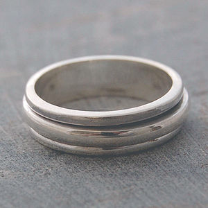 Sterling Silver Spin Ring - wedding jewellery
