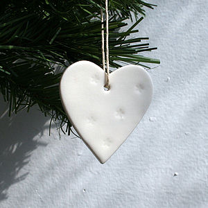 Porcelain Heart Decoration