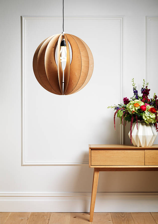 Sphery birch plywood light shade by by kirsty notonthehighstreet sphery birch plywood light shade mozeypictures Gallery