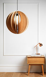 Sphery Birch Plywood Light Shade - ceiling lights